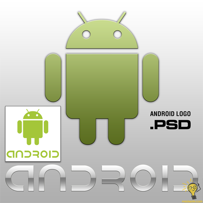 android-logo-psd-fonts