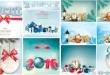 2016 Yeni Yıl Tasarımı (Kış Manzaralı) Vektörel (EPS)