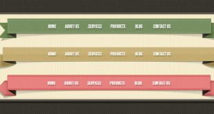 PSD-menü-tasarimi-ve-Web-Ribbons