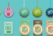 Sanal Mağaza Ürün Etiket Butonları (PSD)