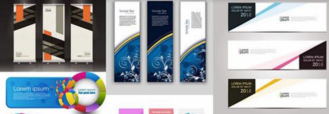 Profesyonel Banner Koleksiyonu Vektörel (EPS)